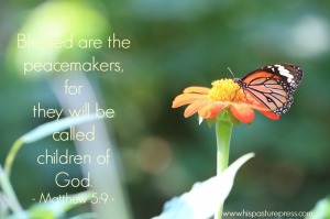 God's peacemakers, children of God