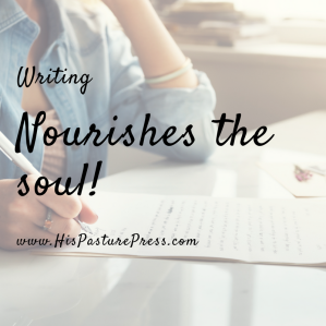WRiting nourishes the soul