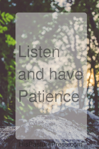 Listenand havePatience